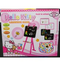 ET192-HELLO KITTY LEARNING EASEL BLACKBOARD AND WHITEBOARD