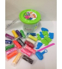 PP09-COLOURFUL PLAYDOUGH DENGAN 10 AKSESORI